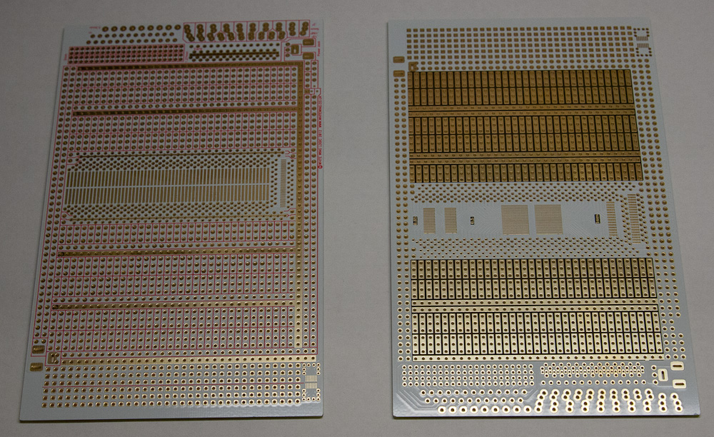 White Wing Logic prototyping board - side by side