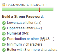 Password strength verificaton